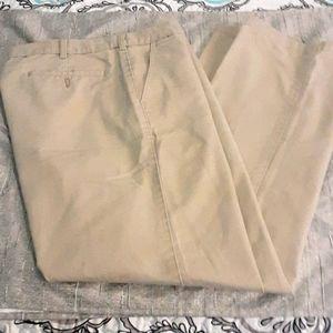 36x34Men's Khakis flat front, back pockets button